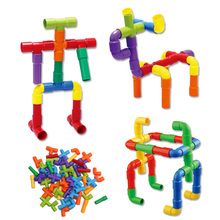 Pipeline Tunnel Blocks DIY Creative Bricks Toys Kids Educational Toy Pipe Blocks Training Toys Child Gift Family Board Game(China)