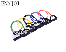 ENNJOI 120CM Resistance Bands Pilates Crossfit Fitness Equipment Elastic Pull Rope Resistance Bands Workout Latex Tube Band Set