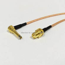3G modem Antenna Cable RP SMA Female nut Bulkhead to MS156 RG316 Coaxial Cable Pigtail 15CM 6inch