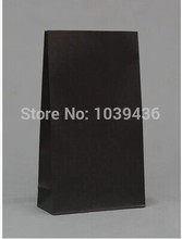 Size 23cm * 12cm * 7.5cm new Black Paper Gift Bags without handle paper bag food packaging kraft paper bag 100pcs