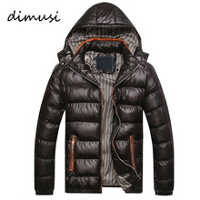 DIMUSI New Men Winter Jacket Fashion Hooded Thermal Down Cotton Parkas Male Casual Hoodies Brand Clothing Warm Coat 4XL,PA064(China)