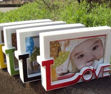 Free Shiping!  3D LOVE Baby Photo Frame Plastic Creative Kid's Photo Frame I LOVE YOU Wedding Decoration Home Decor Gift