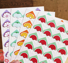 12sheets/lot photo corner fruit pattern diy picture stickers scrapbooking embellishments(China)