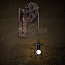 Factory direct sales retro wall lights iron new design vintage lighting stairs wall lamp
