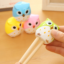 Kawaii Cartoon Owl Pencil Sharpener Cutter Knife Students' Gift Stationery(China)