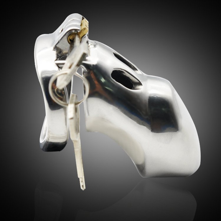 Latest Design 316L stainless steel Luxury Male Chastity Devices Cock Cage Penis Rings with Stealth New Lock Adult Sex Toy <br>