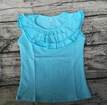 2017 new style new products on china market high quality baby double ruffle tank top(China)