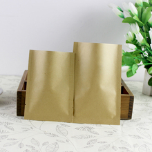 Easter 100/200pcs In/ 13 Sizes Open Top Flat Kraft Paper Al Foil Laminated Heat Sealed Bag Vacuum Pouches Food Packaging Bags(China)