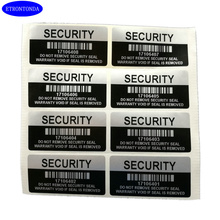 100 Silver Color VOID Security Labels Removed Tamper Evident Warranty Sealing Sticker With Serial Number And Barcode(China)