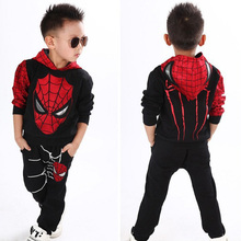 cosplay Comic classic Spiderman Kids Boys sports suit 2pcs Suit tracksuit Boys clothing set Children's Costume Set to 2-7y