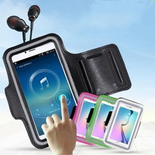 8 Colors Fashion Mobile Phone Running Bags Cases For iphone 6 6S Plus 5 5S 5C Se 4S Gym Running Sports Arm Band Protective Cover