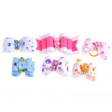 50 pcs Pets Dog Cat Grooming Bowtie Hairpin Double Bows Doggy Puppy Hair Accesories Mix Designs Pets Charms Headdress