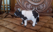 simulation 10x8cm cow  toy lifelike dairy cow model home decoration gift t243