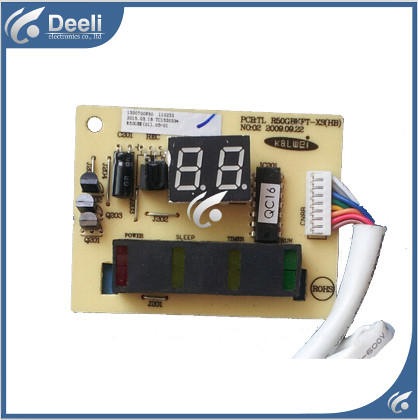 95% new good working for TCL Air conditioning display board remote control receiver board plate 1300700890 R50GBKFT-XS<br>