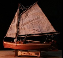 Free shipping scale 1/30 FLATTIE Assembly model classical wooden sailing ship sloop model DIY ship model educational toy Gifts(China)