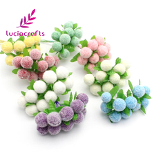 1.5-2cm Mini PE Foam Artificial Flowers For Wedding Handmade Decoration Wreath Flower 10pcs 027036001(China)