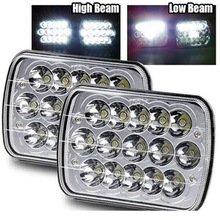 "LED 5"" x 7"" 7""x6"" Rectangular LED Headlight Headlamp Replacement H6054 H5054 H6054LL 69822 6052 6053 Sealed Beam Off Road Lights"
