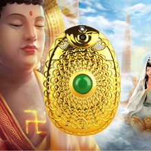 God's Mobile phone!Golden Flip Phone clamshell folder Russian keyboard lotus flower jade lord cell phone Dual sim mobile phone(China)