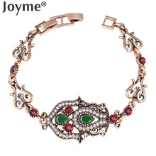 Joyme New Turkish Vintage Jewelry Bracelets For Women Antique Gold-Color Cuff Bracelets & Bangles Wedding Pulseira Feminina