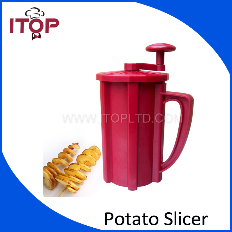 Fast Delivery! ABS Plastic Commercial Manual Twisted Potato Cutter,Potato Slicer, French Fry Cutter<br>