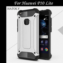 Case Huawei P10 Lite Anti-knock PC + TPU Dual Layer Armor Phone Case For Huawei P10 Lite Cover Huawei P10 lite / Nova Lite <((China)