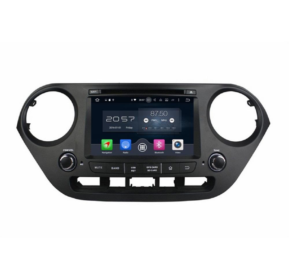 1024*600 HD 2 din 7″ Octa Core Android 6.0 Car Radio DVD Player for Hyundai I10 2014 2015 With 2GB RAM GPS WIFI Bluetooth USB