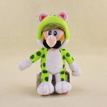 Super Mario Plush 18cm Super Mario 3D World Green Cat Luigi Plush Doll Toy Soft Stuffed Animals Plush Toys With Tag for Kids(China)