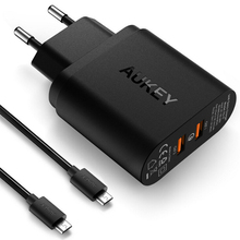 AUKEY 36W Dual Port Support Quick Charge 2.0 Usb Charger , Universal Travel Charger Adapter Portable Smart Mobile Phone Charger