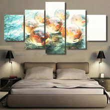 5 Panels Printed canvas DRAGON BALLS  prints SPORTS canvas poster home decor wall frame artwork