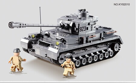 Large Panzer IV F2 Tank 1193pcs Models Building Blocks Kit Military Army Toy Tank Bricks Compatible with lego<br>