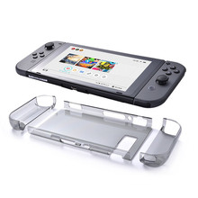 Nintend Switch Clear Case Protective Shell Case Transparent Hard Back Cover Tablet Case and Joy Con Cases for Nintend Switch(China)