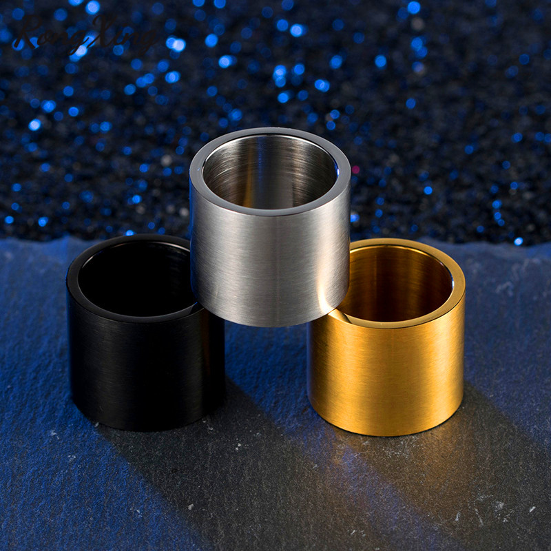 Titanium Wide Thumb Ring