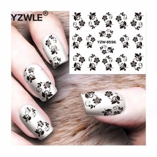 YZWLE 1 Sheet DIY Decals Nails Art Water Transfer Printing Stickers Accessories For Manicure Salon  YZW-8596