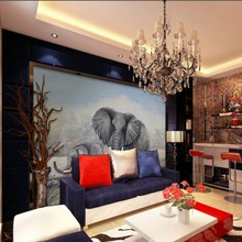 Custom 3D photo wallpaper African grassland mother and son elephant Living room decorative wallpaper custom high quality mural(China)