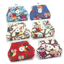 2 PCS/lot 18MM Owl Snap Buttons Jewelry Coin Purses Small Wallets Pouch Women's Money Bags For Gift 2072