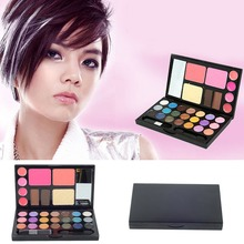 21 Colors Eyeshadow Palette Makeup Lip Gloss Kit Eyebrow Cream Powder Cake Lip Gloss Cheek Blush Makeup Set H0811 P10(China)