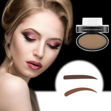 2017 New Eye Makeup Eyebrows Styling Tool 3D Easy to Wear Waterproof Black Brown Eyebrow Powder Makeup With Brow Stamp Brush
