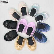 After Party Shoes Foldable Ballet Flats Portable Travel Fold up Shoe Prom Ballerina Flats Roll Up for Bridal Wedding Party Shoes