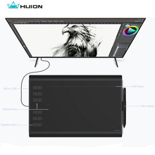 "Huion 10"" x 6"" Professional Animation Digital Drawing Tablet New 1060 Plus Upgrade With 8G Micro SD card for Wins Glove Bag Gift(China)"