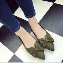 Buy 2018 new flat shoes woman fashion pointed toe shallow mouth empty flat shoes elegant women OL dress shoes for $11.66 in AliExpress store