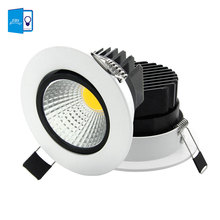Super Bright Recessed LED COB Downlight Dimmable 5W 7W 9W 12W LED Spot light LED Ceiling Lamp AC 110V 220V White \ Warm White(China)
