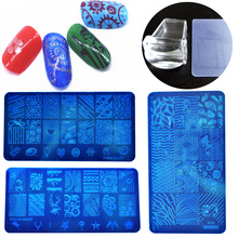 New Nail Stamper Plate Set Nails Art Image Stamp Stamping Transfer Scraper Plates Print Manicure Template Pedicure Stencil Kits(China)