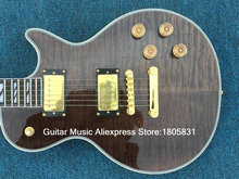 Gray Flame Top Supreme Electric Guitar Ebony Fingerboard Gold Hardware From China
