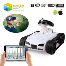 Mini RC Tank APP Controlled Wireless Spy Tank I-SPY Remote Control Robot with Camera Wifi Controlled Monitoring Vehicle iOS