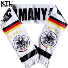 KTLPARTY 10pcs/lot 2018 Russia world cup football Germany/Deutschland /Alemanha fans scarf national soccer team fans scarf(China)