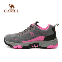 Camel outdoor female hiking shoes anti-slip wearable leather shoes sports shoes A63303669