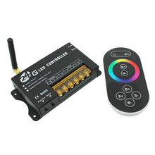 2.4G Touch RF LED Control DC12-24V 3 Channel Wireless Remote 2.4G RGB LED Controller for 5050 RGB led strip