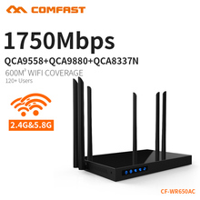 Comfast CF-WR650AC 1750Mbps Dual Band 5.8+2.4G WIFI Router Repeater roteador Wi-Fi 802.11ac Router 6PA+6 WIFI Antenna open ddwrt(China)