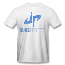 2017 men's YouTube DP Dude Perfect fashion funny custom Print Slim Fit T Shirt Top quality cotton Tops Tees