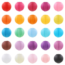 1Pc 6/8/10/12/14/16 Inch Chinese Paper Lantern Festival Wedding Birthday Party Decoration Hanging Lantern Craft Supplies